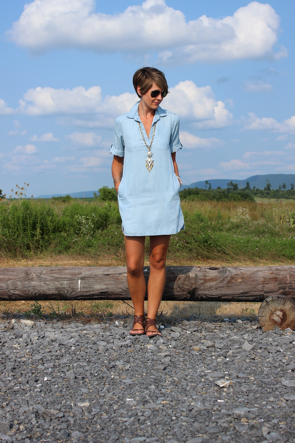 1af6d21e7ee5 Chambray Shift | A Lovely Living
